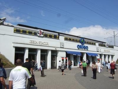 リガ ホテル周辺とリガ駅