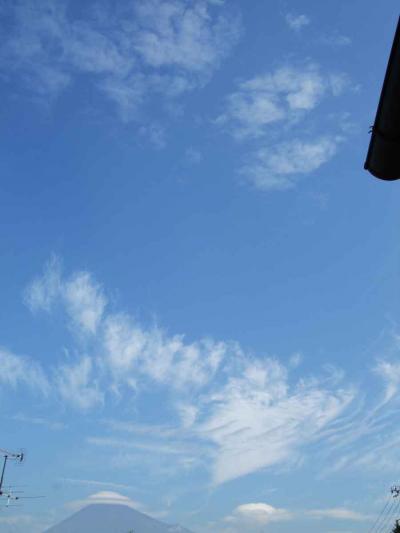 富士山にかかった傘雲が綺麗た゜った…
