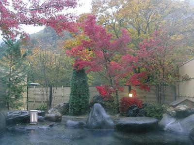 ≪ 信州 上高地口 沢渡温泉 渓流荘 しおり絵 ≫ 秋の信州&飛騨旅のお宿