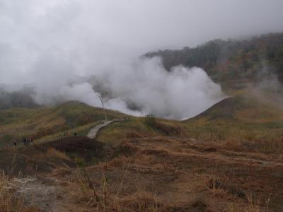 死のロード? 北海道社員旅行1 有珠山西山火口