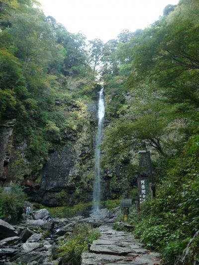 日本の滝百選 『阿弥陀ケ滝』は女性的で優美な滝でした