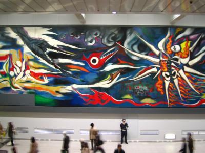 岡本太郎「明日への神話」公開