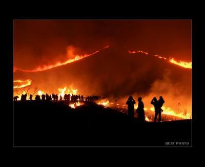 ひとり旅 ★BEST PHOTO  「阿蘇の野焼き」熊本県阿蘇市