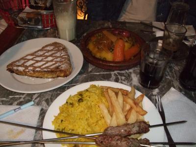 パリ・モロッコ・スペインそしてロンドン周遊の旅 15 -フェズのレストラン、ル・カスバ