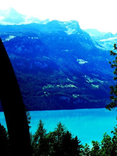 スイスGR82 ロートホルン観光SL乗車? ☆湖水を見送りながら