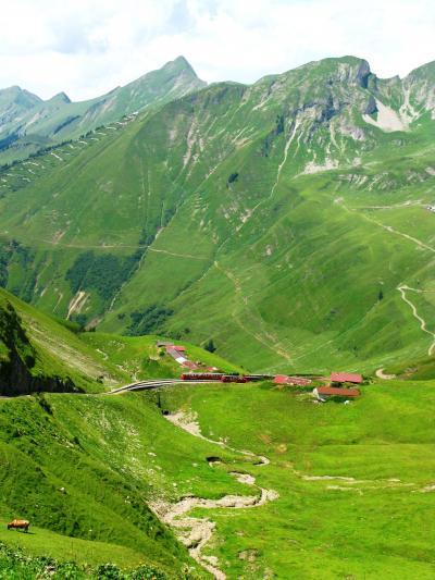 スイスGR84 ロートホルン観光SL乗車? ☆大展望を楽しみ終点に