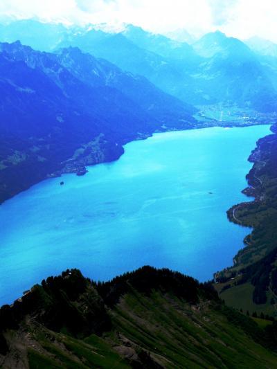 スイスGR85 山上でランチ*ロートホルン展望台 ☆360度の眺望が広がり