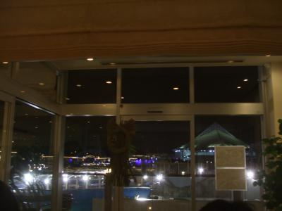 09年01月03日(土)、夕食はホテルシーパラダイスイン内のLagoon Hillで。
