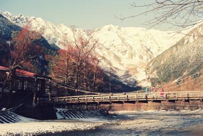 雪の上高地から蝶ヶ岳へ(92・12)