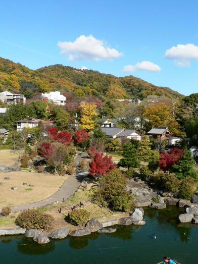 日本の旅 関西を歩く 池田市の池田城跡展望舎から見る光景