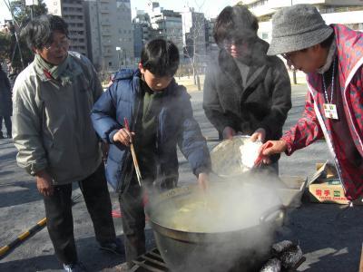 たき火&水団を食べよう会に参加