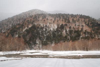 冬の上高地散策;09年第1回山カラ