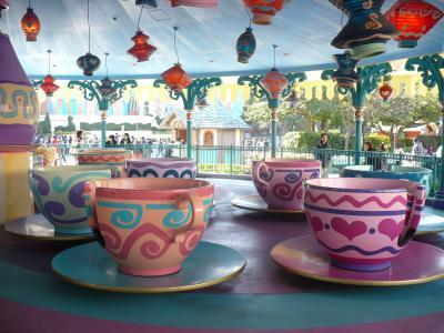 ディズニーランド コーヒーカップにはまりました