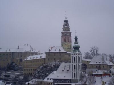雪の似合うクルムロフ