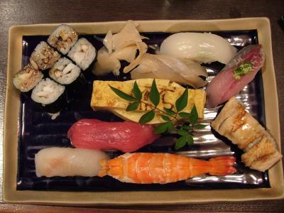 横浜八景島・柴漁港近くの、すし処「かねへい」での夕食