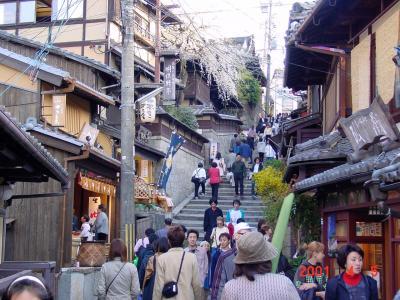 京都府 産寧坂、二年坂、石塀小路に見る春の風景