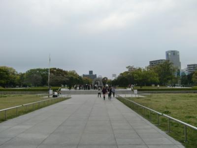 平和記念公園へ花見!