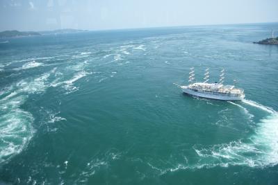 鳴門の渦を見に初めて淡路島を渡る