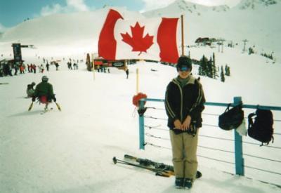 カナダでスキー