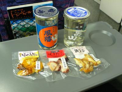 居酒屋新幹線&居酒屋こがねふかひれ号で東北グルメ