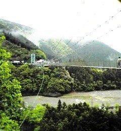 つり橋渡ろ! 家族de十津川キャンプ '09春