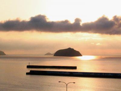 雨の甑島 (フェリーニューこしき・甑島館)