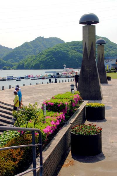 ツツジ咲く正覚寺と新緑の相模湖散策ウォーキング