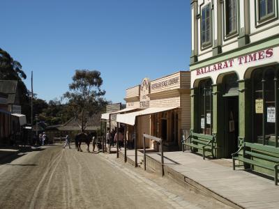 オーストラリア、バララット、ソブリンヒル金鉱の町テーマパーク ( Sovereign Hill )