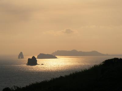 池島炭鉱見学と夕暮れの角力灘