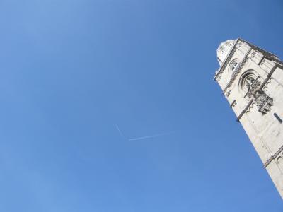 スイス チューリッヒ上空