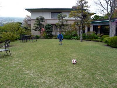 03.東急ハーヴェストクラブ箱根明神平 芝生のお庭で遊びました