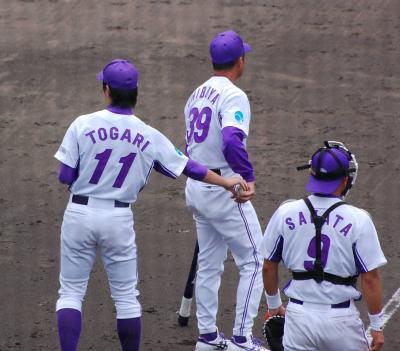 都市対抗野球東海二次予選を見るために岡崎市民球場へ