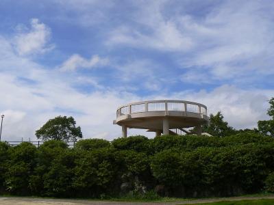 鍋冠山公園の展望台
