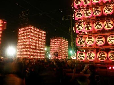 09 久喜市の提燈祭り・・・?提燈山車が夏の夜空を彩る