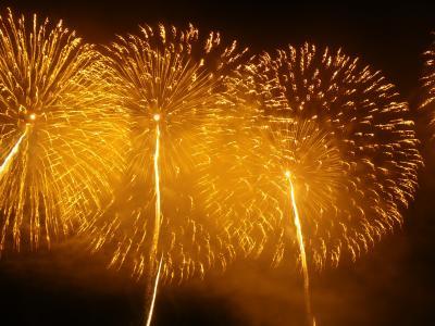 花火の国新潟・海の柏崎は雨の柏崎2009
