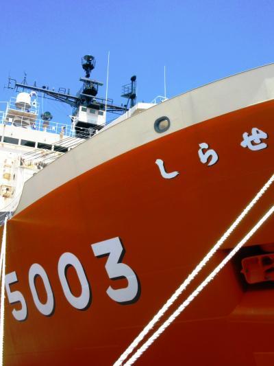 横須賀-2 砕氷艦「しらせ」に乗船して ☆新南極観測船の雄姿