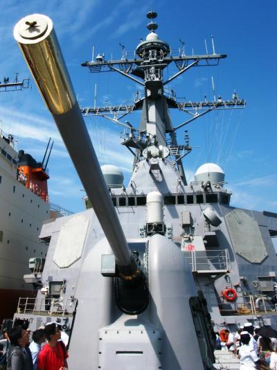 横須賀-6 イージス艦:カーチィス・ウィルパーを見学 ☆新兵器も