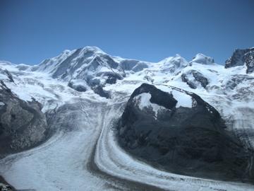 氷河に感動!@ツェルマット
