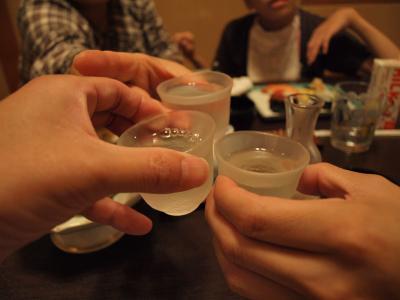 横浜八景島・柴漁港近くの、すし処「かねへい」で、家族でのささやかなお祝い会