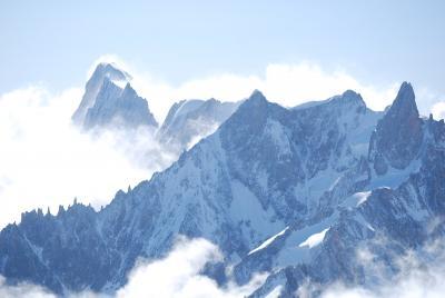 こだわりのアルプスハイキング展望台からの風景編①エギーユ・デュ・ミディにて