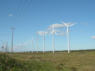 天塩町の風力発電所