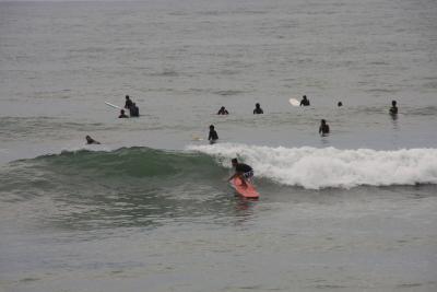 波に乗り損ねた外房の海