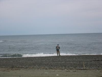 道南釣の旅-2009-/久しぶりの海釣、ヒラメを狙い島牧で遊ぶ