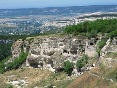 2009年ウクライナ旅行第5日目(1)クリミア半島:思わぬ山歩き、チュフート・カレ洞窟都市