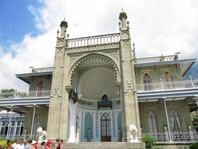 2009年ウクライナ旅行第6日目(2)ヤルタ:イギリス風でイスラム風なアルプカ宮殿