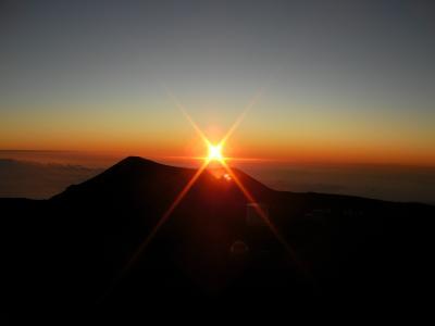 初上陸ハワイ島レンタカーの旅 09'  4日目午後 ハワイ島マサシのネイチャースクール 夕陽と星のツアー
