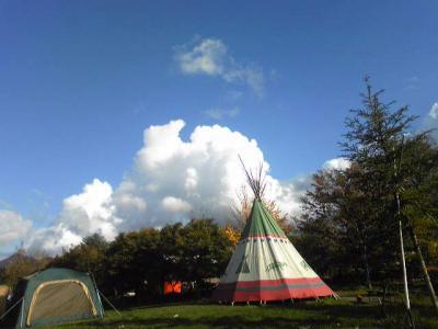 北軽井沢でキャンプ