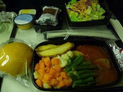 成田-LA ユナイテッド航空~機内食