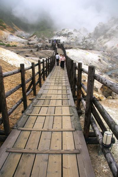 登別温泉の地獄谷へ足を伸ばしました