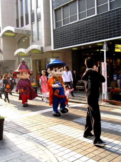 横浜:元町ハロウィン!ペコちゃん・ポコちゃんがやってきた♪